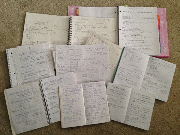 notebooks and notes
